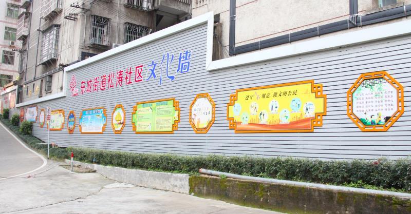 赣州幼儿园墙体绘画,赣州古建筑手绘,赣州手绘古建筑