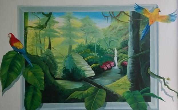 赣州墙体彩绘,赣州涂鸦墙,赣州墙体喷绘广告,赣州墙壁绘画