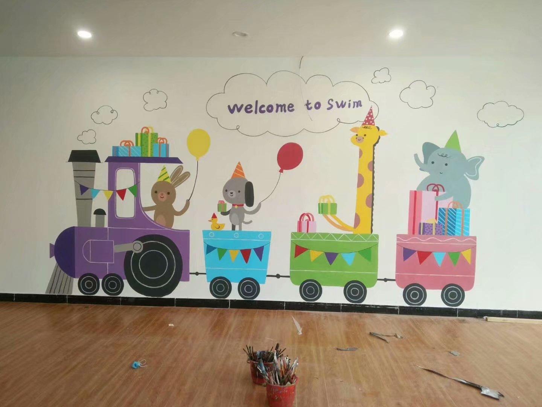 赣州涂鸦画画,赣州幼儿园墙面涂鸦,赣州古建筑彩绘,赣州彩绘古建筑