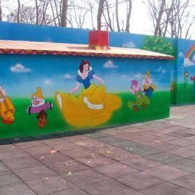 赣州手绘公司,赣州新农村建设墙体彩绘,赣州墙体喷绘广告公司