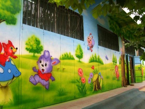 赣州农村墙体彩绘,赣州彩绘墙绘,赣州农村外墙绘画,赣州涂鸦墙面