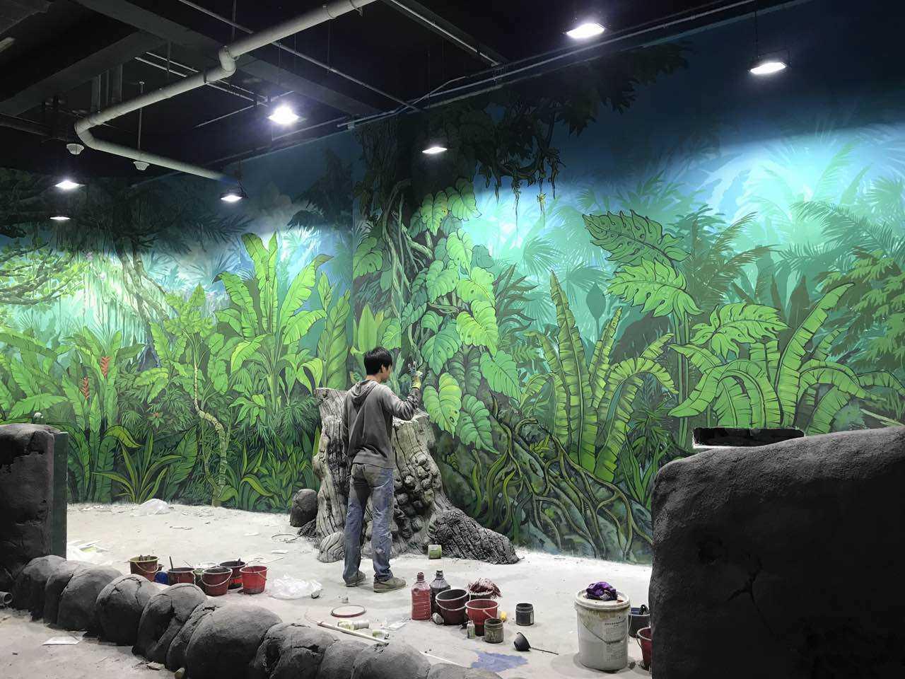 赣州背景墙手绘,赣州壁画涂鸦,赣州喷绘墙面,赣州墙面喷绘